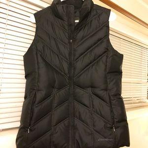 Women's Black Goose Down Eddie Bauer Vest - Medium